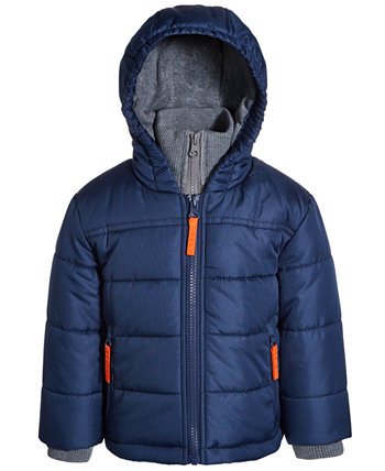 Baby Boys Puffer Jacket With Fleece Bib S Rothschild & CO