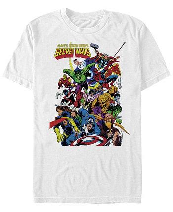 Мужские классические комиксы Super Heroes Secret Wars, футболка с коротким рукавом Marvel