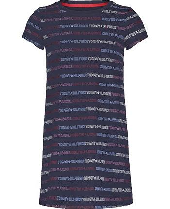 Платье для больших девочек с несколькими логотипами Tommy Hilfiger