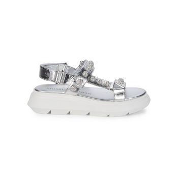 Кожаные сандалии Zoelie с кристаллами Stuart Weitzman