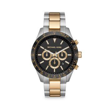 Двухцветные часы-хронограф Layton с браслетом Michael Kors
