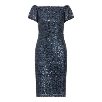 Sequined Lace Off-the-Shoulder Dress Ralph Lauren