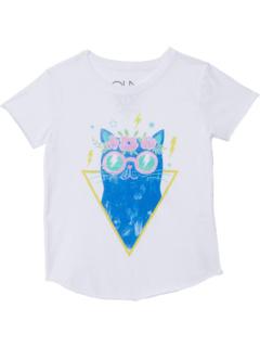 Рубашка из переработанного винтажного джерси с короткими рукавами и круглым вырезом (для маленьких / больших детей) Chaser Kids