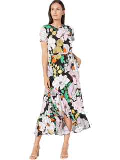 Джерси с короткими рукавами и короткими рукавами в стиле ретро с цветочным принтом London Times