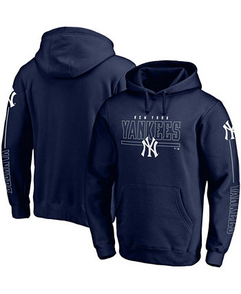 Толстовка с капюшоном мужская темно-синяя New York Yankees Team Front Line Pullover Fanatics