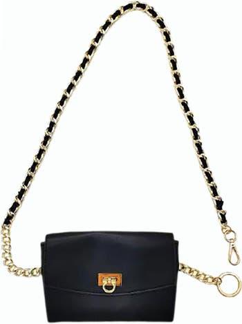 Поясная сумка с цепочкой Linea Pelle