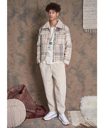Мужская куртка в клетку с начесом NATIVE YOUTH