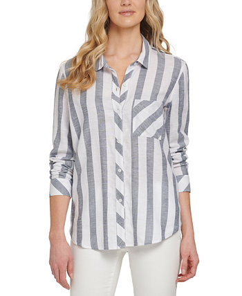 Striped Button-Up Blouse DKNY Jeans