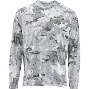 Рубашка с капюшоном Simms Solarflex с принтом Simms