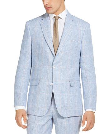 Мужской льняной костюм современного кроя с раздельным жакетом Tommy Hilfiger