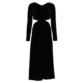 Бархатное платье Mast с вырезом Rachel Comey