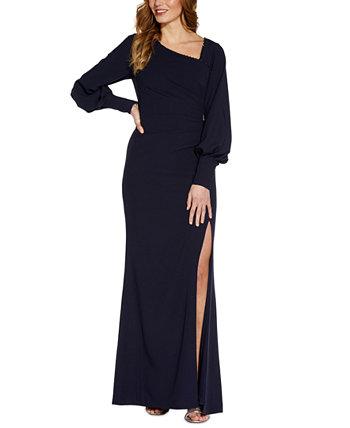 Платье с асимметричным вырезом и украшением Adrianna Papell