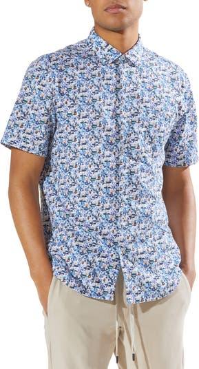 Рубашка Slim Fit с цветочным принтом Good Man Brand