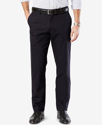 Мужские хлопковые прямые стрейчевые брюки цвета хаки Dockers