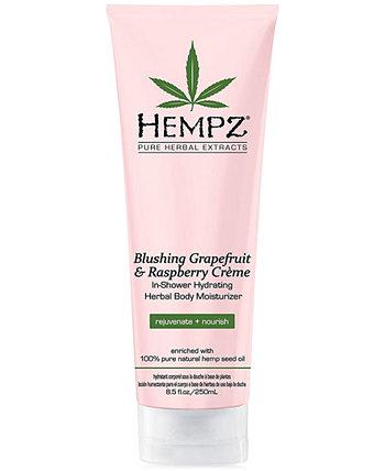 Увлажняющий увлажняющий крем для тела с экстрактом грейпфрута и малины, увлажняющий и увлажняющий на травах, 8 унций, от PUREBEAUTY Salon & Spa Hempz