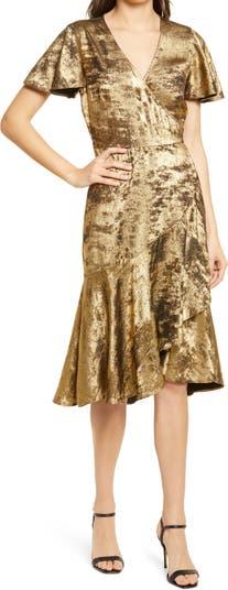 Платье с металлическими оборками Chelsea28