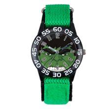 Детские черно-зеленые пластиковые часы Marvel The Incredible Hulk Marvel