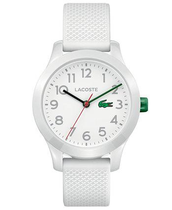 Детские часы 12.12 с белым силиконовым ремешком, 32 мм Lacoste