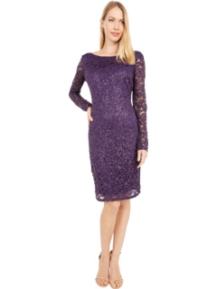 Эластичное кружевное платье MARINA