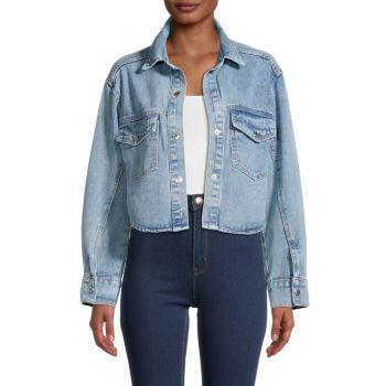 Укороченная джинсовая куртка Lea & Viola