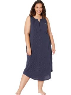 Plus Size Sleeveless Split-Neck Ballet Gown with Soft Bra Ralph Lauren
