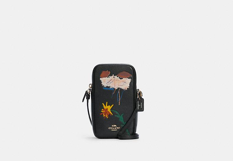 Сумка через плечо Coach X Jean Michel Basquiat с молнией север / юг COACH