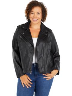 Классическая асимметричная мотоциклетная куртка из искусственной кожи больших размеров Levi's®