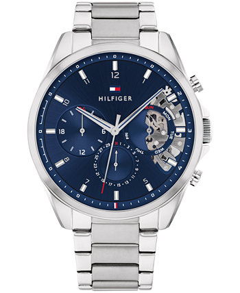 Мужские часы с хронографом из нержавеющей стали с браслетом 44 мм, созданные для Macy's Tommy Hilfiger