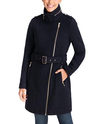 Асимметричное пальто с поясом, созданное для Macy's Michael Kors