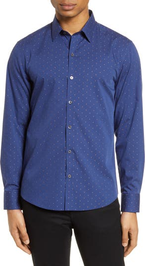 Рубашка добби на пуговицах Christian Classic Fit Zachary Prell