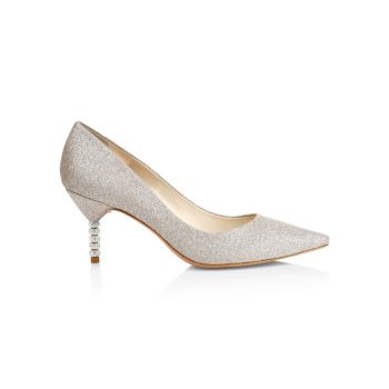 Туфли-лодочки Coco с блестками на каблуке с украшением Sophia Webster