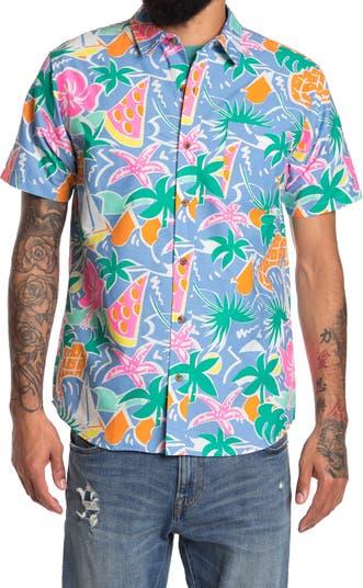 Рубашка с коротким рукавом с тропическим принтом PARTY PANTS