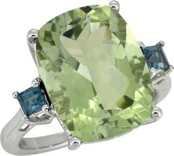Серебряное кольцо с празиолитом лондонским голубым топазом Nitya