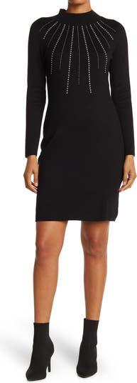 Studded Sweater Dress Nina Leonard