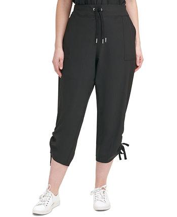 Укороченные брюки большого размера с трикотажным поясом Calvin Klein
