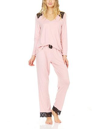 Женский пижамный комплект из джерси Yummy Laundry by Shelli Segal