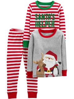 Three-Piece Snug-Fit Cotton Christmas Pajama Set (Little Kids/Big Kids) Simple Joys by Carter's
