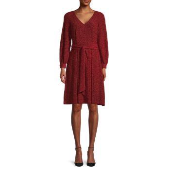 Блестящее платье с поясом Calvin Klein