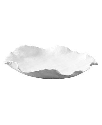 Большая белая миска произвольной формы Two's Company