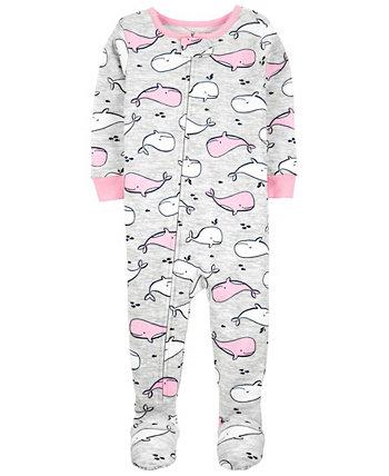 Пижама из хлопка плотного кроя для маленьких девочек Carter's