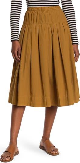 Paper Poplin Pull-On Midi Skirt ALEX MILL