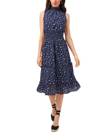 Cotton Eyelet-Embroidered Smocked Dress 1.STATE
