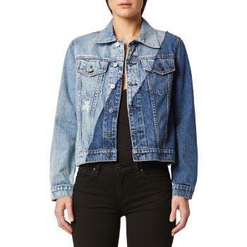 Джинсовая куртка классического кроя Hudson