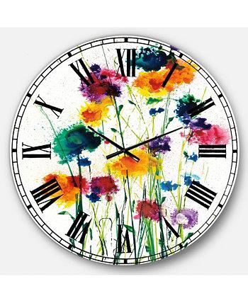 Крупногабаритные металлические настенные часы для коттеджа Designart