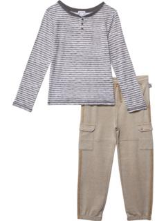 Комплект Marl Stripe Henley (для малышей / маленьких детей / детей старшего возраста) Splendid Littles