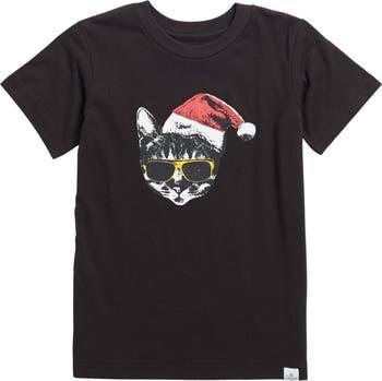 Cat Santa Graphic Tee Kid Dangerous