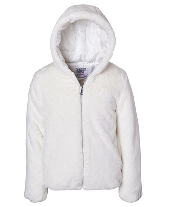 Куртка из искусственного меха для больших девочек Kensie Girl