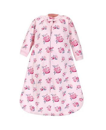 Стеганый спальный мешок с длинным рукавом премиум-класса для маленьких мальчиков и девочек и переносное одеяло Hudson Baby