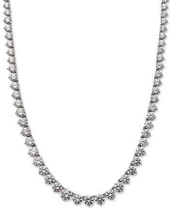 Ожерелье из стерлингового серебра, ожерелье с кубическим цирконием (53 карата) Arabella