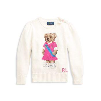 Свитер Polo Bear для маленьких девочек и девочек Ralph Lauren